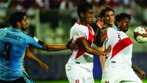 Luis Suárez Miguel Araujo Perú v Uruguay Eliminatorias Sudamericanas 28032017