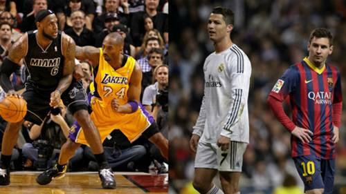 LeBron Kobe Ronaldo Messi