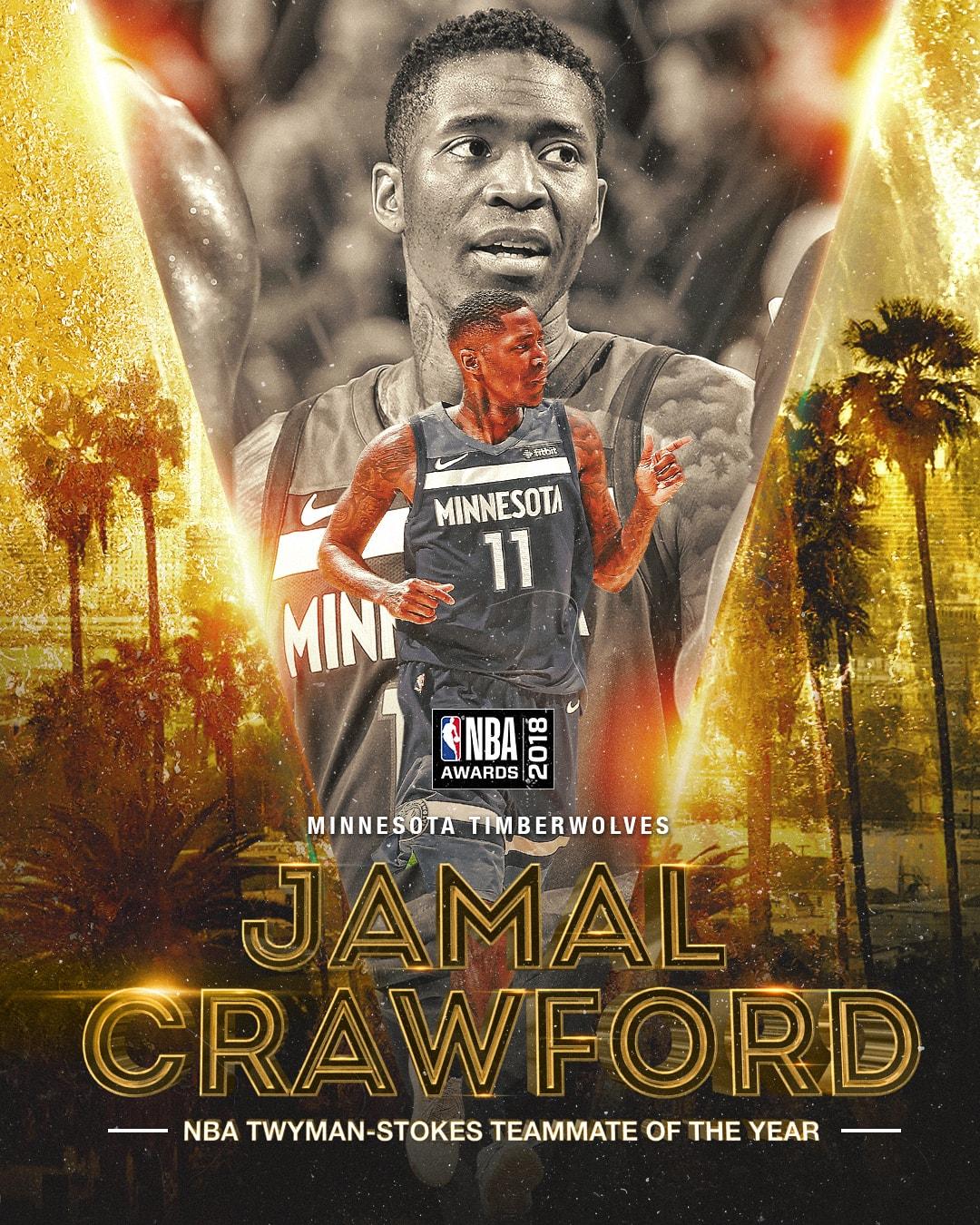 2018 NBA Awards NBA Twyman-Stokes Teammate of the Year Award Jamal Crawford