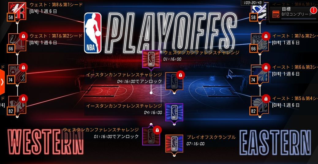 EA NBAライブ バスケットボール プレイオフ