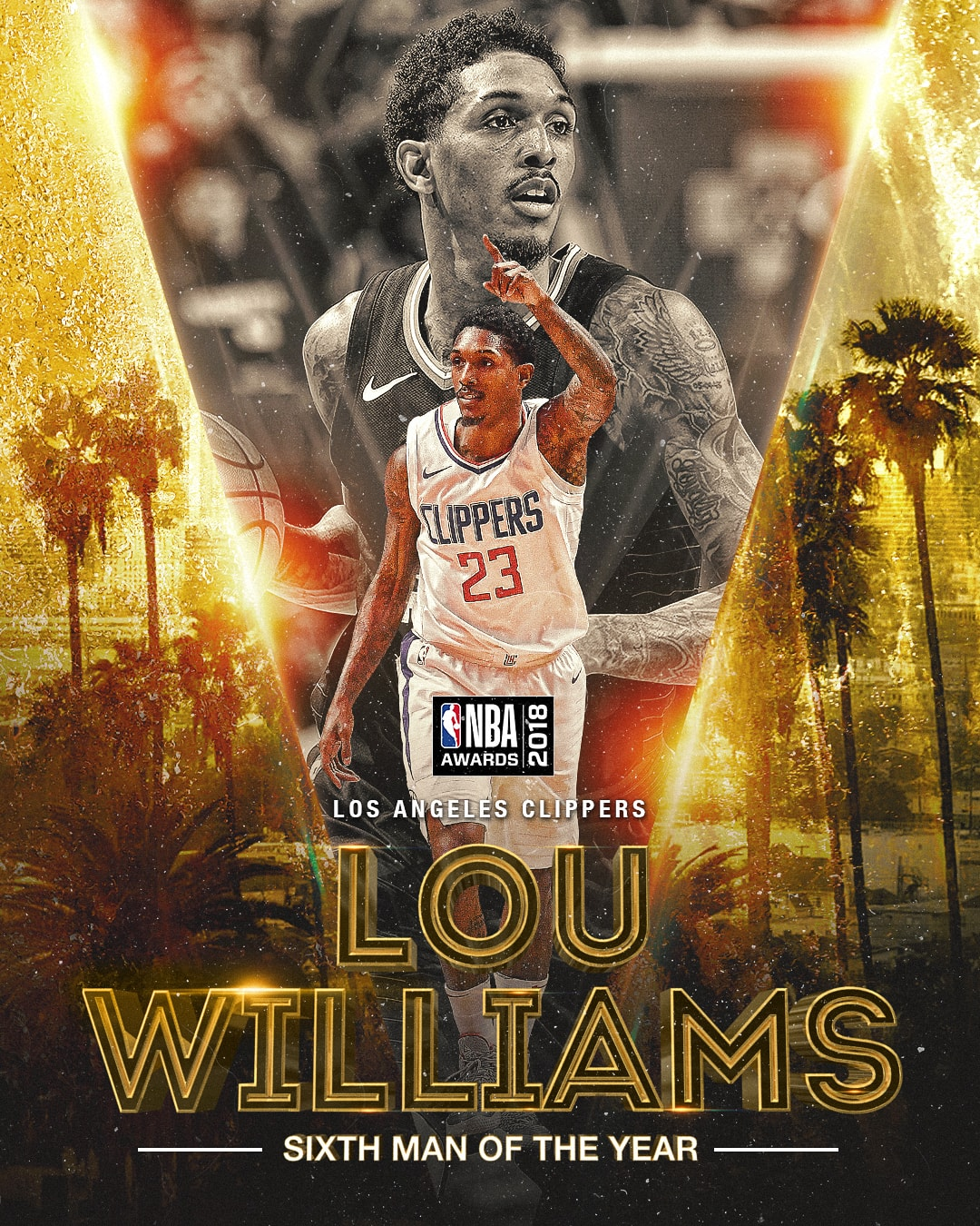 NBA Awards NBA Sixth Man of the Year Award- Lou Williams