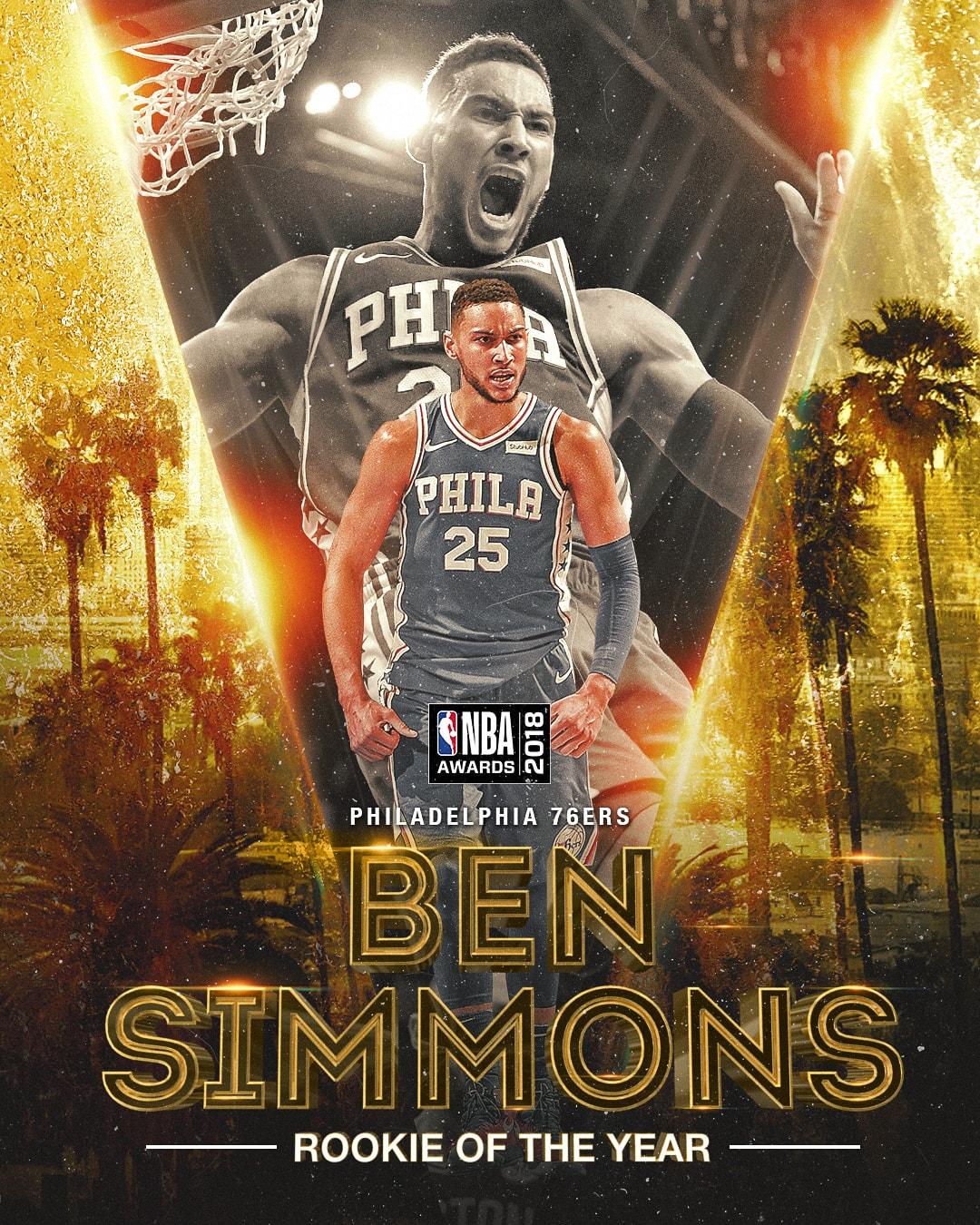 NBA Awards NBA Rookie of the Year Award-Ben Simmons