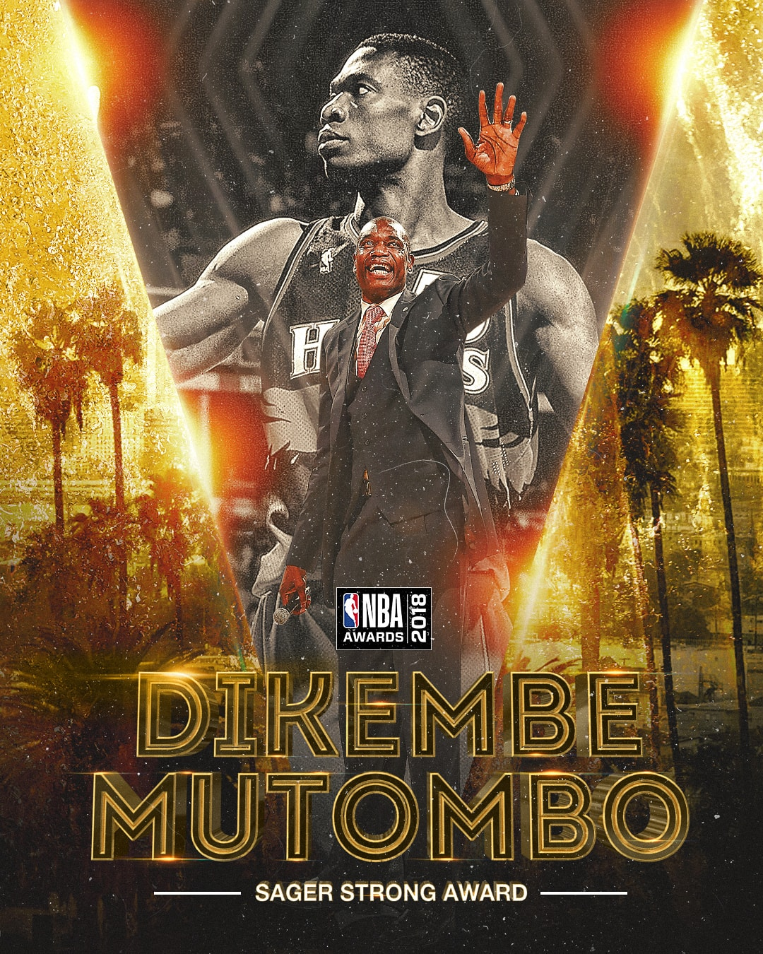 2018 NBA Awards Sager Strong Award Dikembe Mutombo