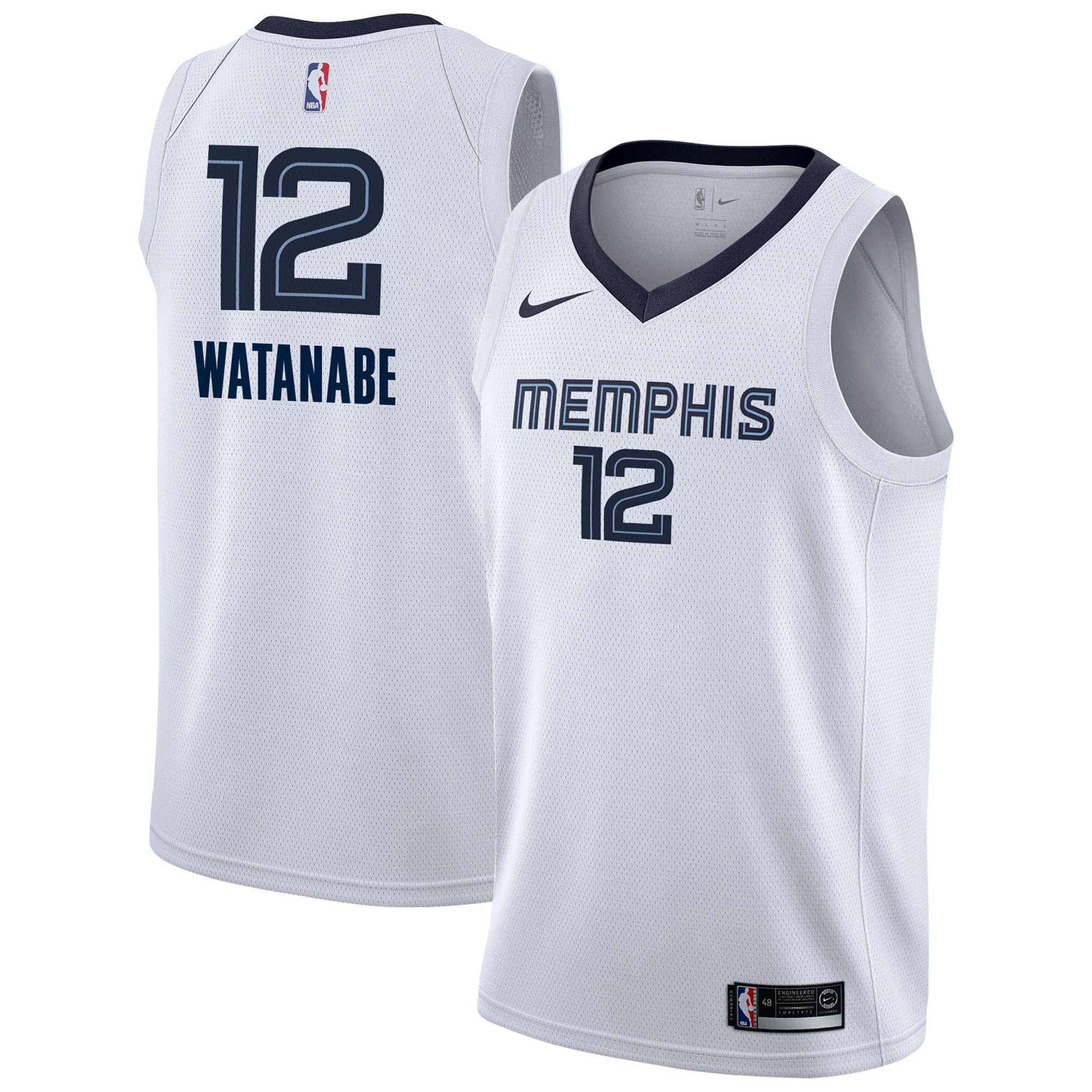Yuta Watanabe Grizzlies Jersey NBA Store Association Swingman