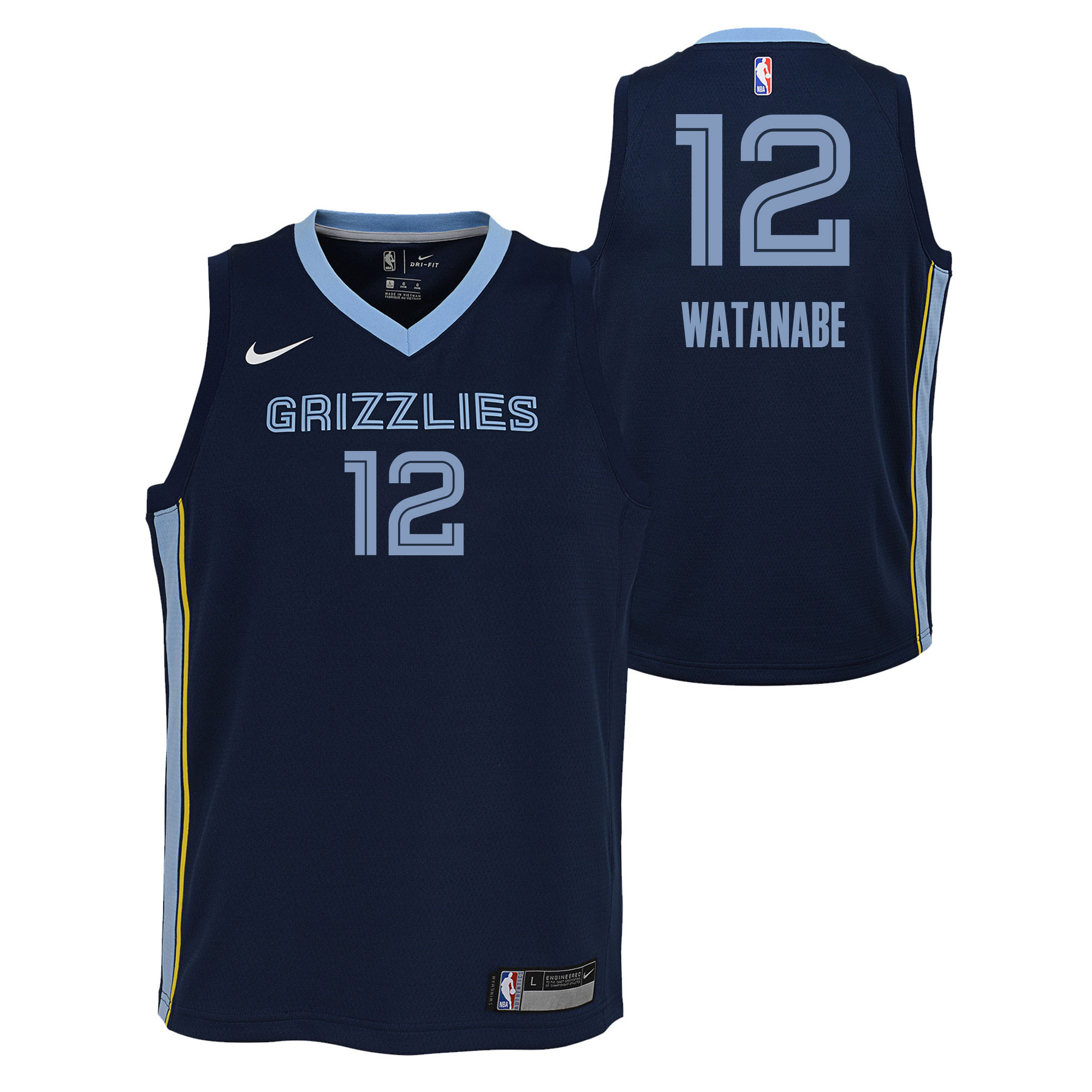 Yuta Watanabe Grizzlies Jersey NBA Store Icon Swingman Youth