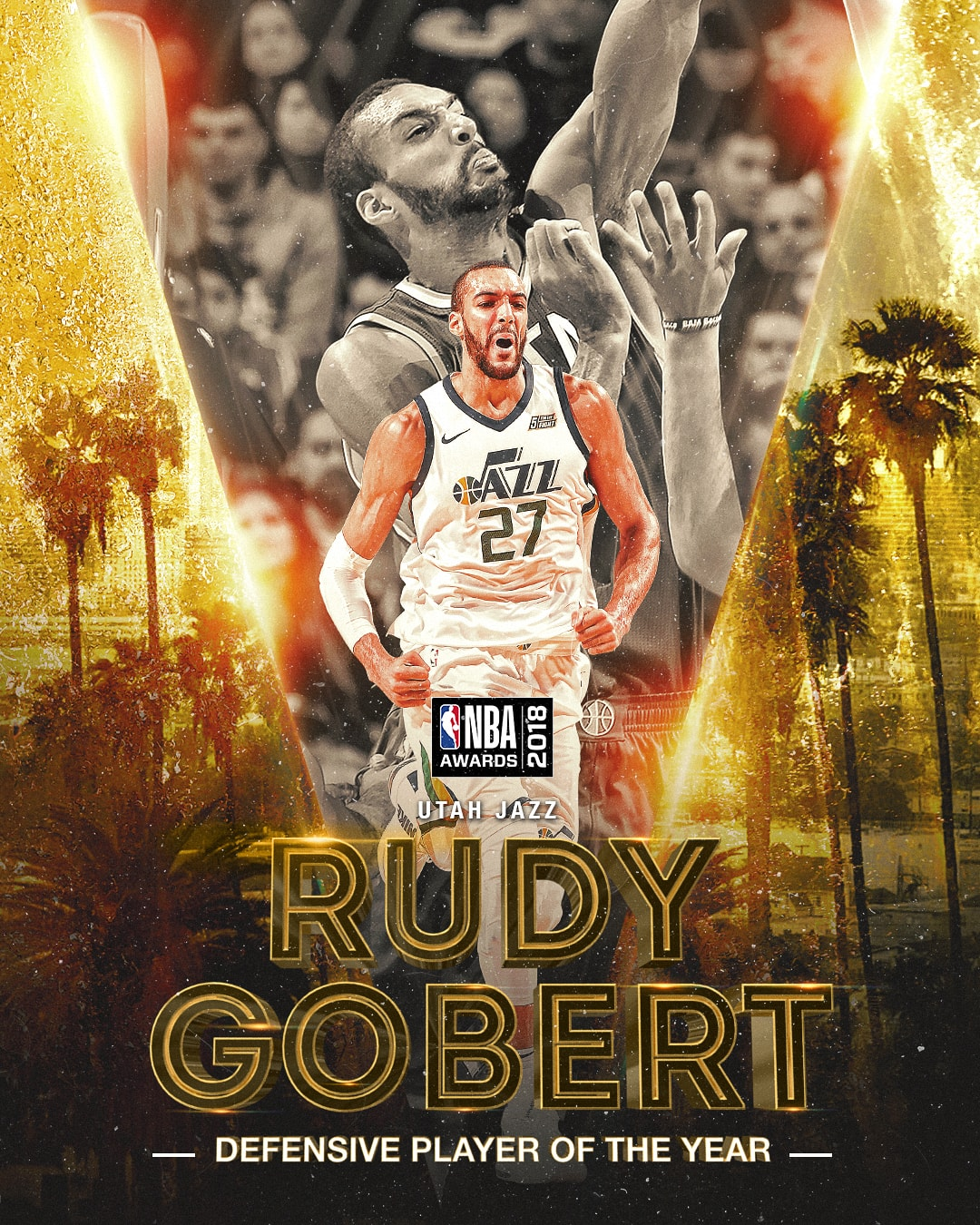 NBA Awards NBA Defensive Player of the Year Award - Rudy Gobert