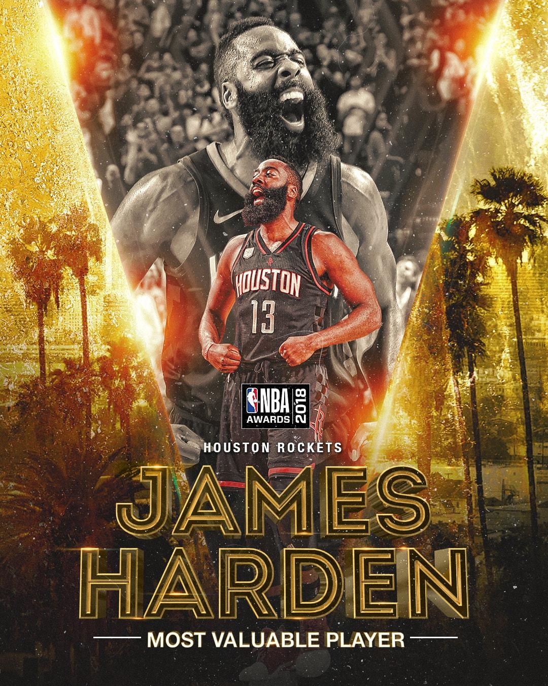 2018 NBA Awards NBA Most Valuable Player Award-Harden