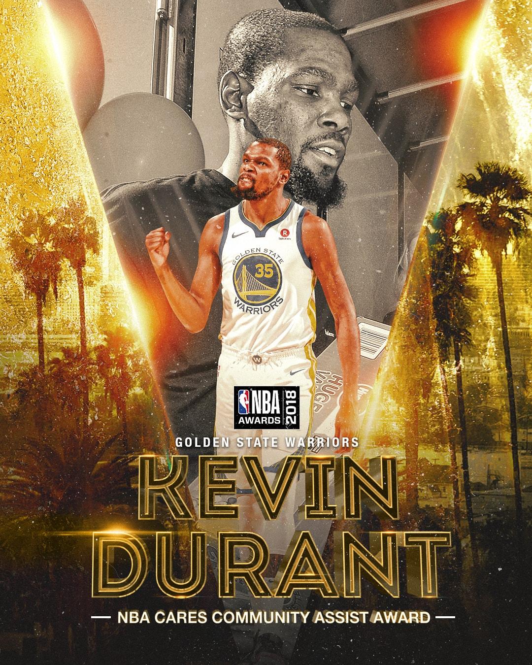 2018 NBA Awards NBA Cares Community Assist Award Kevin Durant