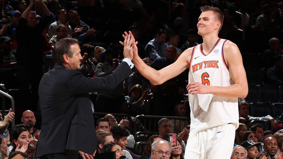 Knicks Kristaps Porzingis Jeff Hornacek