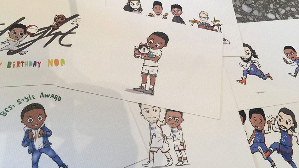 Russell Westbrook illustrations