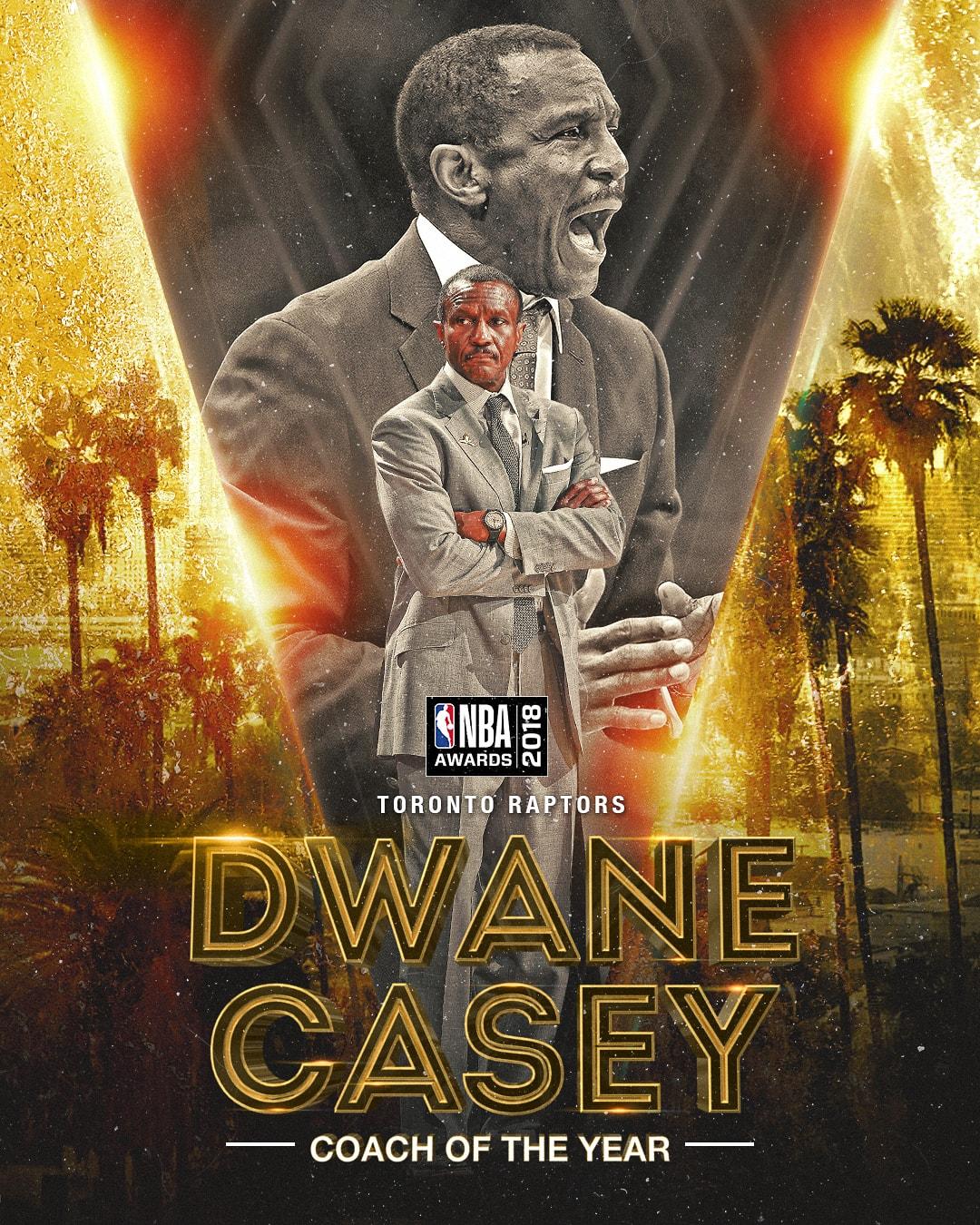 NBA Awards NBA Coach of the Year Award - Dwane Casey