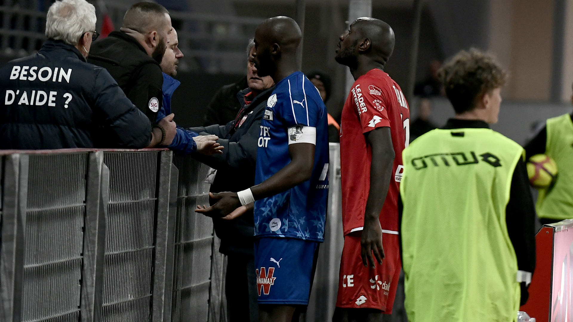 Dijon-Amiens match halted following racist abuse of Prince Gouano