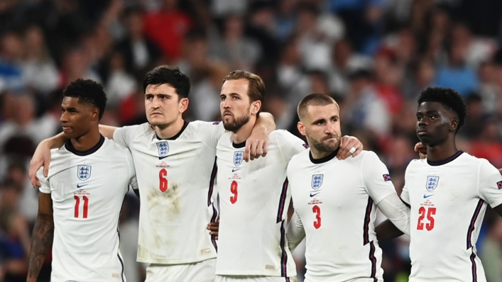 Harry Maguire with his England team-mates