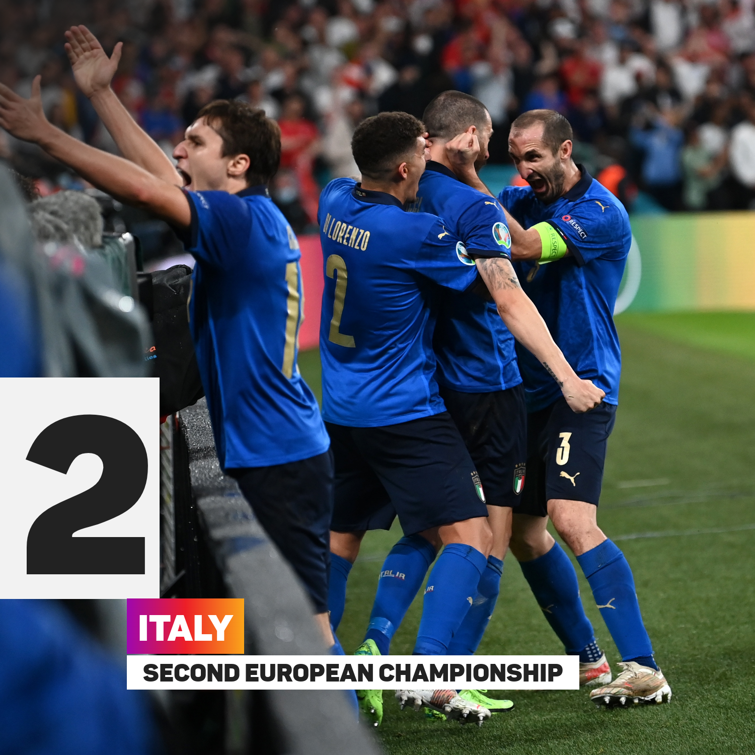 Italy have won their first European Championship since 1968