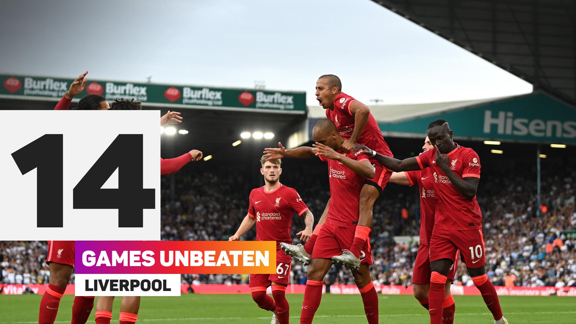 Liverpool are on a long unbeaten run