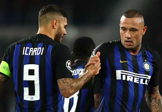 Inter stars Mauro Icardi and Radja Nainggolan.