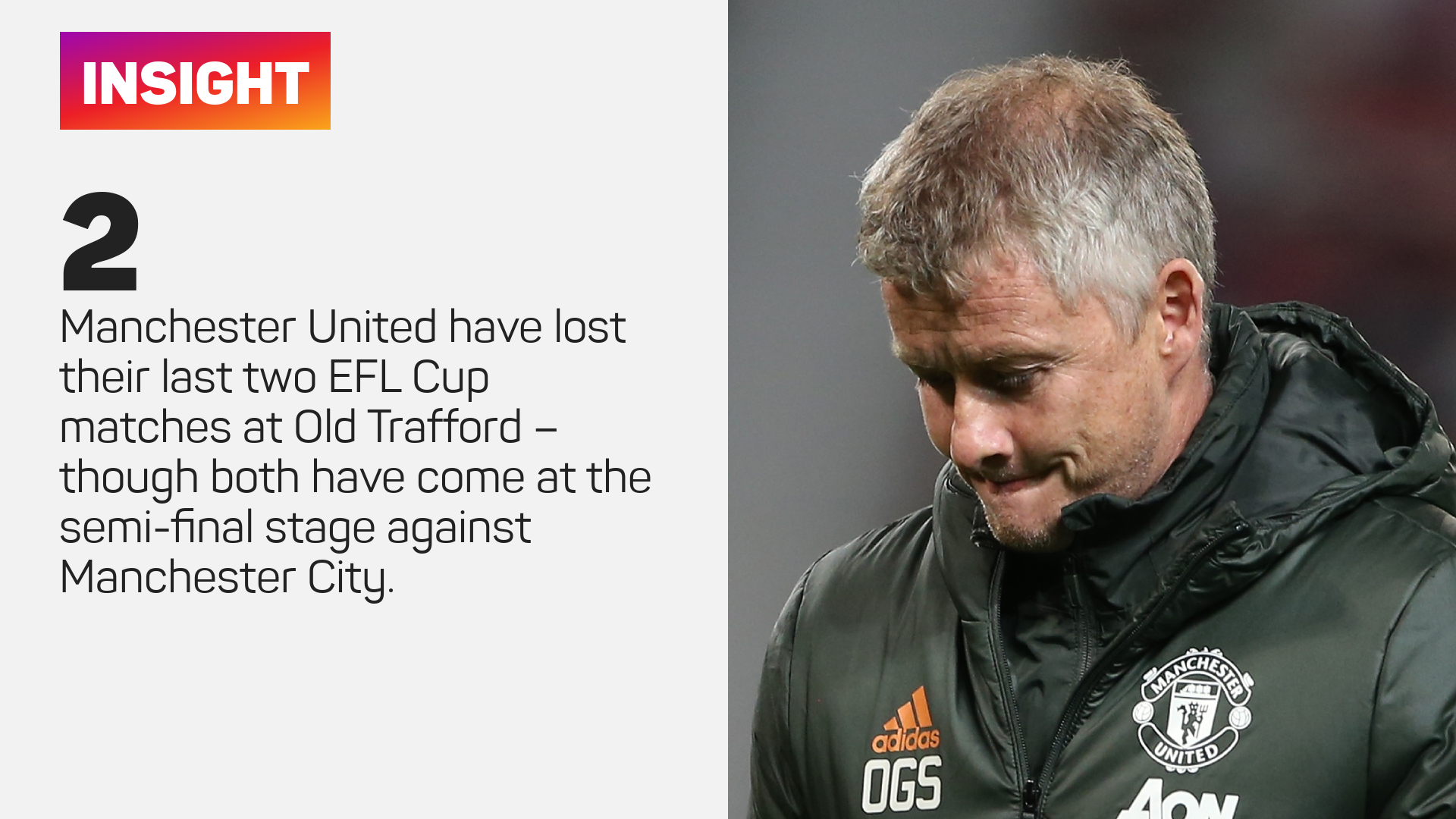 Manchester United have lost their last two EFL Cup matches at Old Trafford