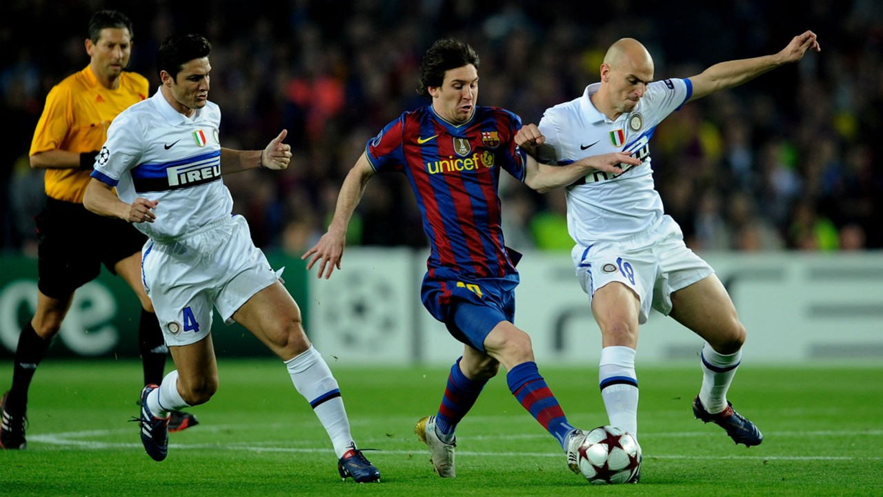 Image result for messi vs inter milan
