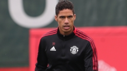 Raphael Varane in training with Manchester United