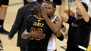 LeBron James, left, and Kevin Durant