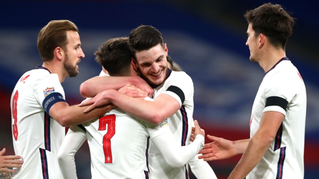 The spotlight falls on England ace Declan Rice today