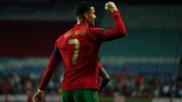 Cristiano Ronaldo celebrates a goal for Portugal