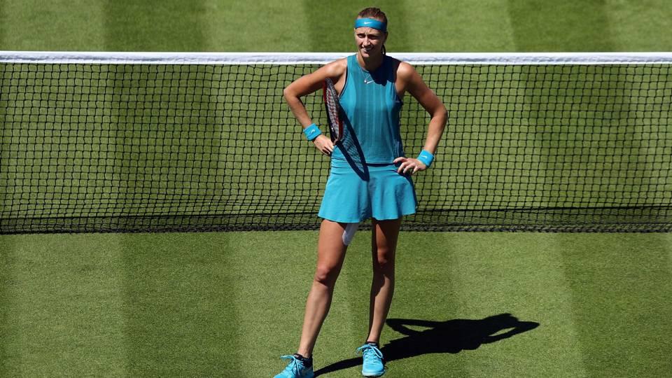 With Wimbledon on horizon, two-time champ Petra Kvitova withdraws at Eastbourne
