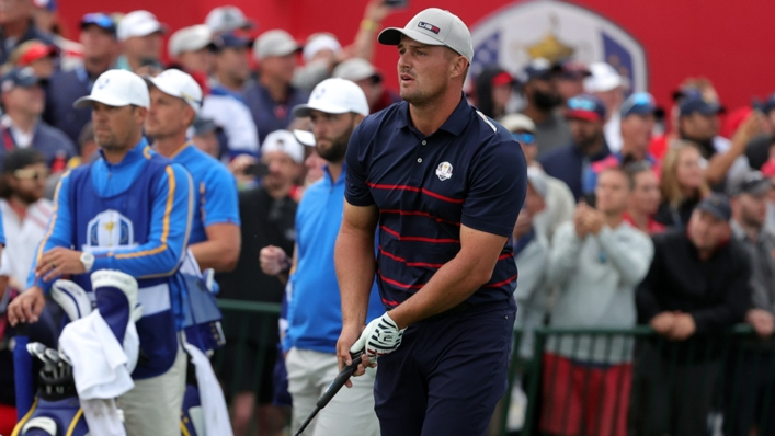 Bryson DeChambeau in action for Team USA