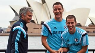Jose Mourinho John Terry Eden Hazard - Cropped