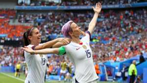 USA 2 Netherlands 0: Rapinoe scores from the spot as champions defend their title