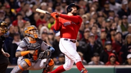 Kyle Schwarber revelled in a moment of history for the Boston Red Sox
