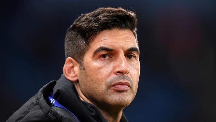 Former Roma coach Paulo Fonseca