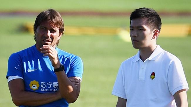 Inter's Antonio Conte and Steven Zhang will have plenty to discuss
