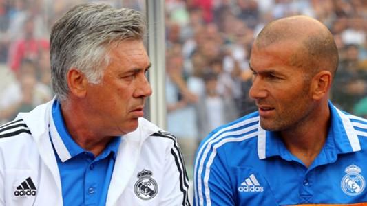 Carlo Ancelotti Zinedine Zidane - cropped