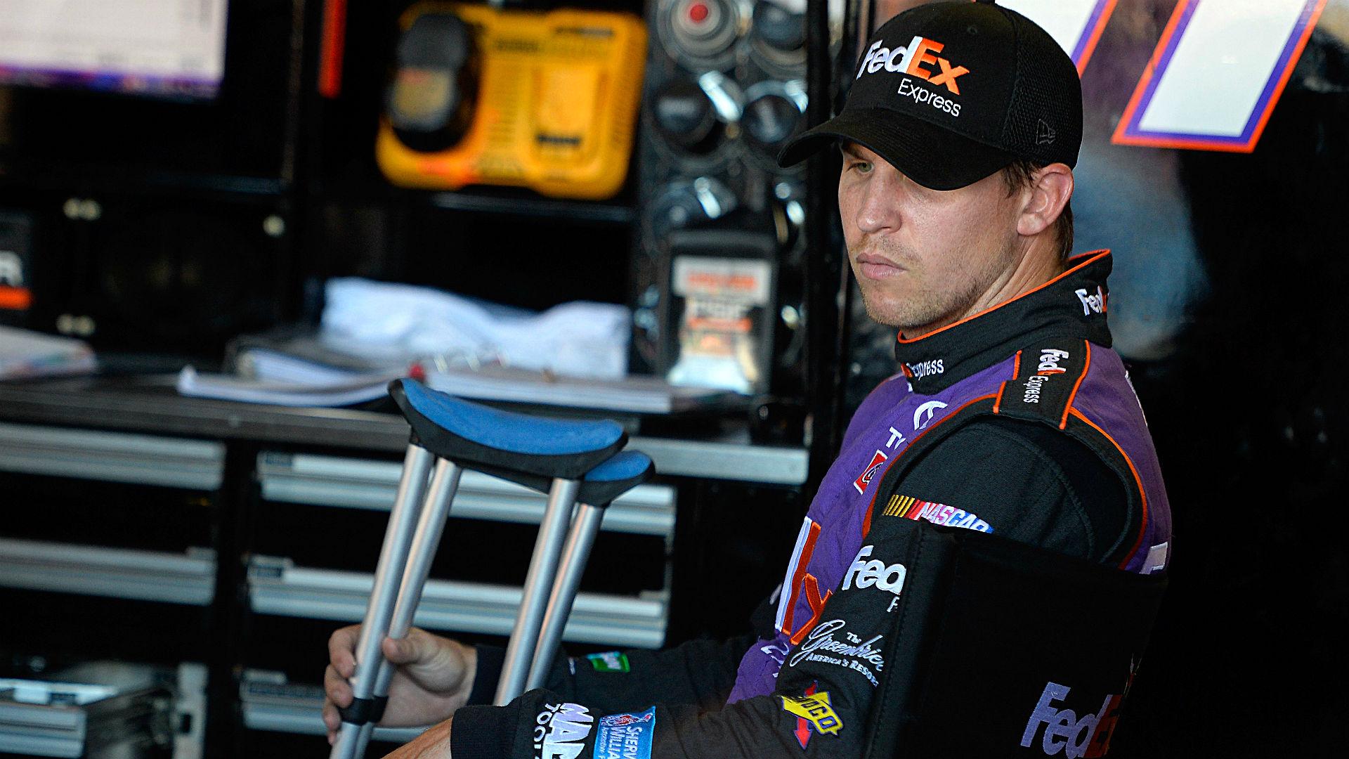 NASCAR starting lineup at Charlotte: Denny Hamlin on pole, JGR teammate Matt Kenseth on front row