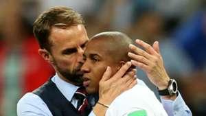 Gareth Southgate and Ashley Young