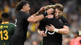 New Zealand celebrate after Jordie Barrett secures victory over South Africa