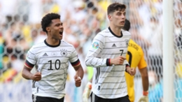 Kai Havertz celebrates during Germany's win over Portugal