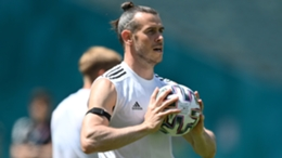Gareth Bale in Wales training