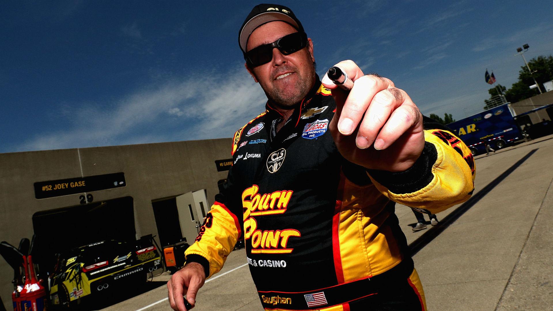 NASCAR at Talladega: Brendan Gaughan cracks jokes after flipping in wild crash