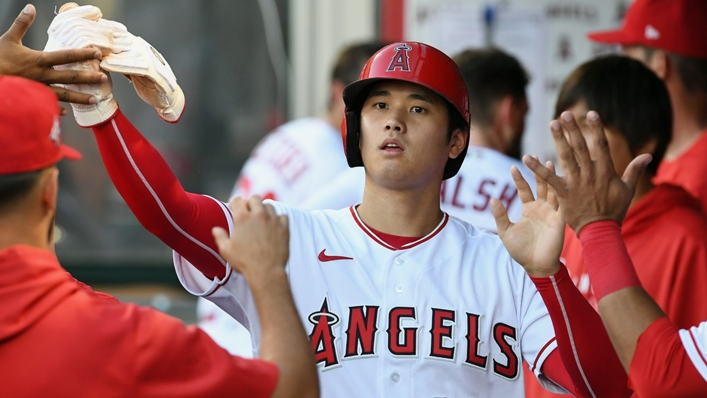 Shohei Ohtani led the way for the Los Angeles Angels on Monday