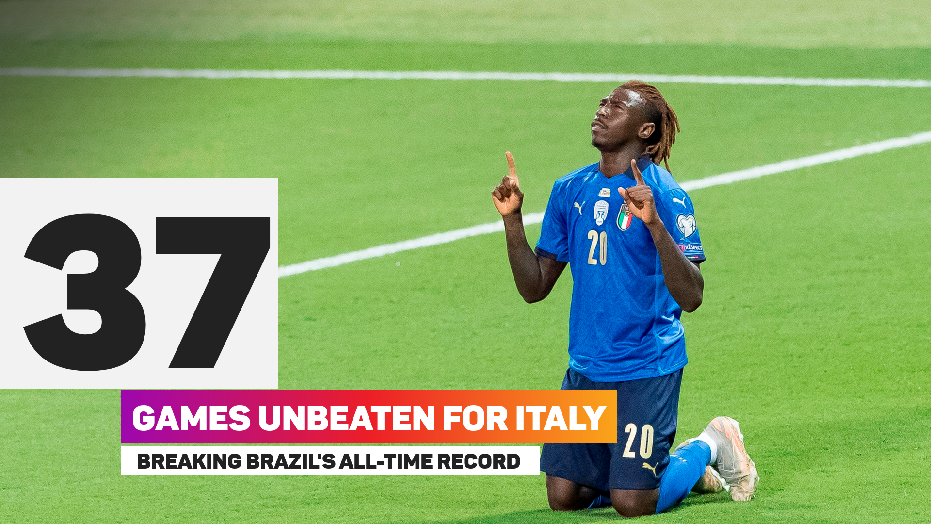Italy set all-time unbeaten record