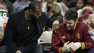 LeBron James (left) and Kevin Love
