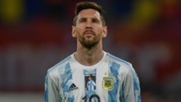 Argentina's Lionel Messi before the World Cup qualifier against Chile