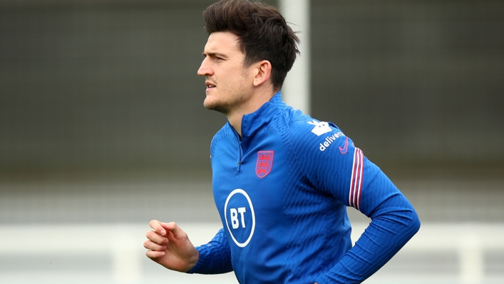 Harry Maguire during England training