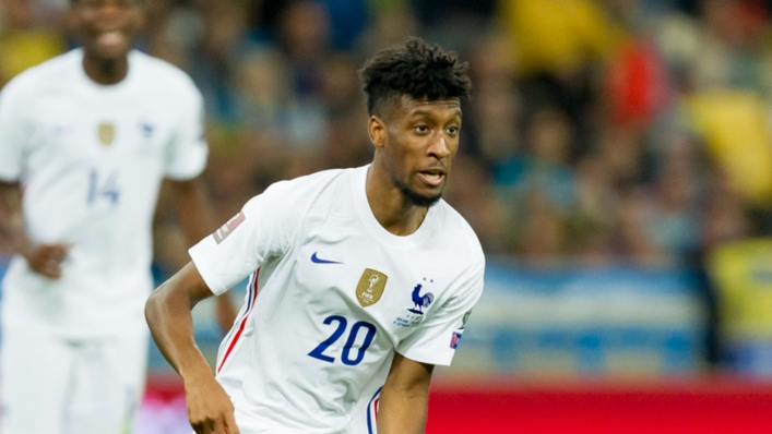 Kingsley Coman in action for France