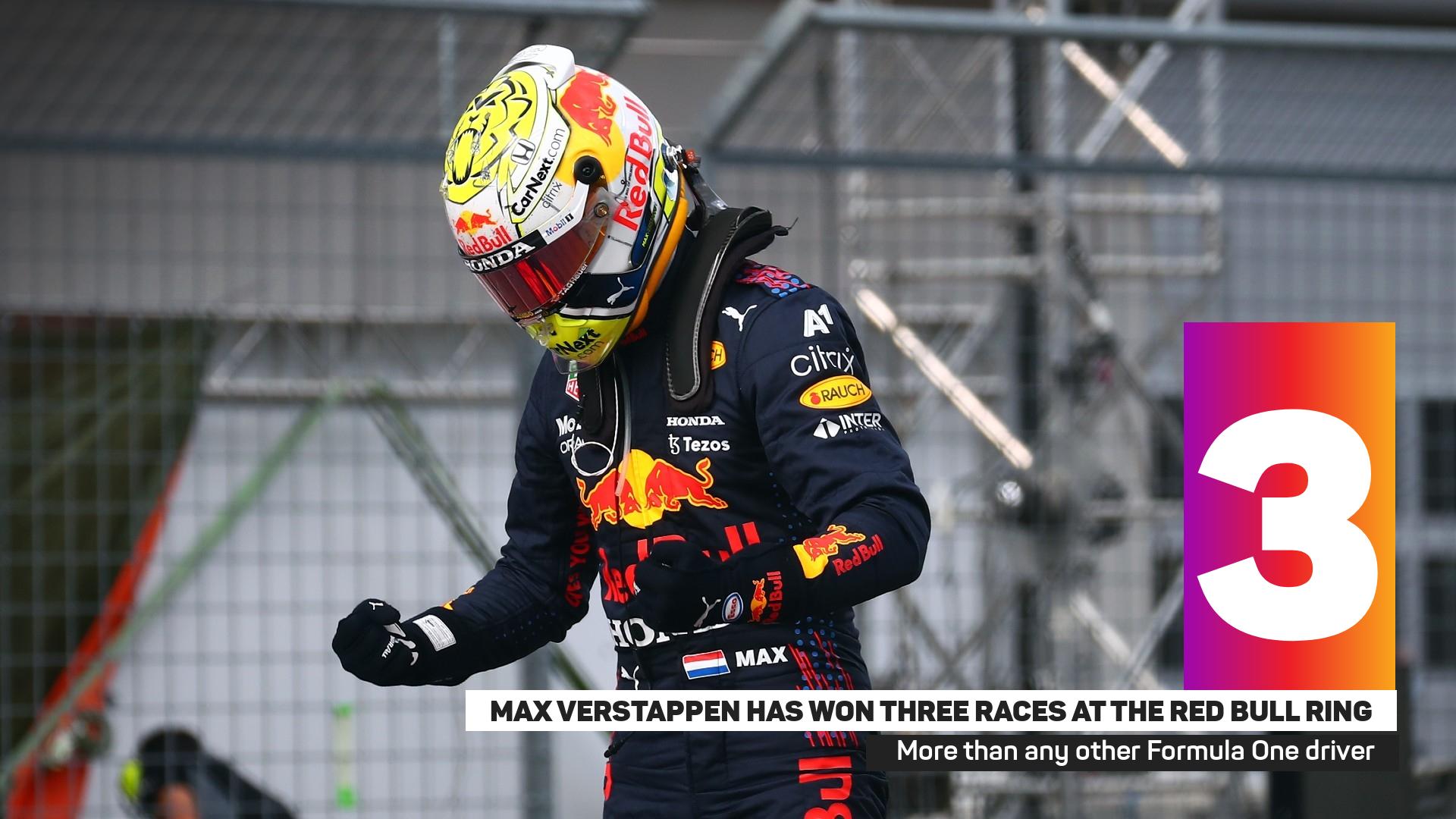Max Verstappen celebrates his win in Spielberg last week