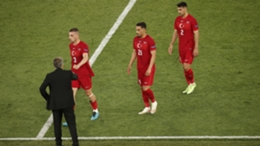 Turkey's players leave the field after their Euro 2020 loss to Italy