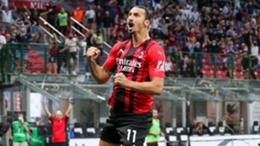 Zlatan Ibrahimovic scored Milan's second against Lazio on Sunday