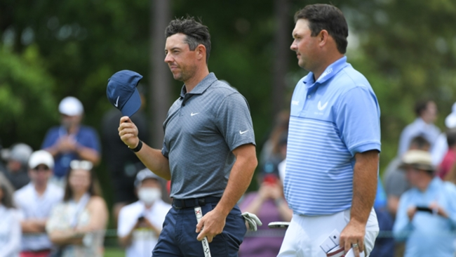 Rory McIlroy and Patrick Reed at the Wells Fargo Championship